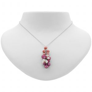 Argenti Freshwater Pearl Clustered Necklace