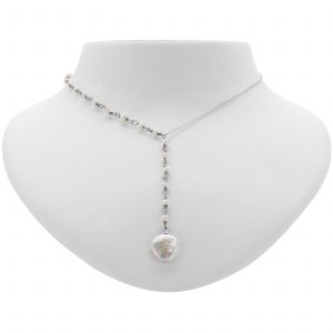 Argenti Freshwater Pearl Coin Necklace